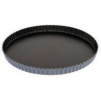 Matfer Bourgeat 332228 Exopan 11 3/4 inch Fluted Non-Stick Tart / Quiche Pan with Removeable Bottom