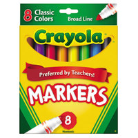 Crayola 587708 Assorted 8 Broad Point Non-Washable Markers