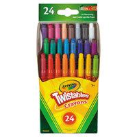 Crayola 529724 Assorted 24 Color Twistable Mini Size Crayon Box