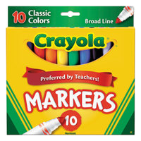 Crayola 587722 Assorted 10 Broad Point Non-Washable Markers