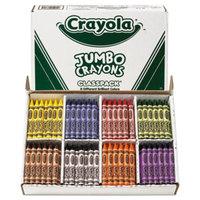 Crayola 528389 Classpack Assorted 8 Color Jumbo Size Crayon Pack   - 200/Set