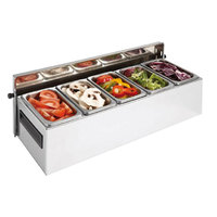 Matfer Bourgeat 511510 Condibox with 5 Stainless Steel Containers