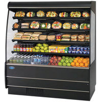 Federal Industries RSSM-578SC Black 59 1/4 inch High Profile Four Shelf Air Curtain Merchandiser
