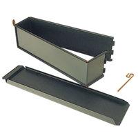 Matfer Bourgeat 331284 Exopan Steel 13 3/4 inch x 3 inch x 3 5/16 inch Non-Stick Pate Mold