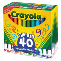Crayola 587858 Ultra-Clean Assorted 40-Count Broad Point Washable Markers