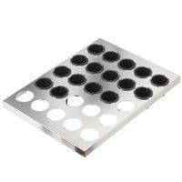 Matfer Bourgeat 347417 11 3/4 inch x 15 3/4 inch Exoglass Cannele Set with 16 Removable 2 1/8 inch Molds