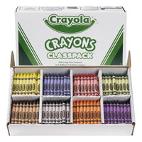 Crayola 528038 Classpack Assorted 8 Color Large Size Crayon Pack - 400/Box