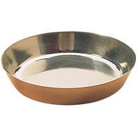 Matfer Bourgeat 341221 9 1/2 inch Copper / Tin Lined Tart Pan