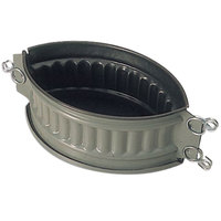 Matfer Bourgeat 331294 Exopan Steel 8 1/4 inch x 5 1/2 inch x 3 1/2 inch Non-Stick Oval Pate Mold