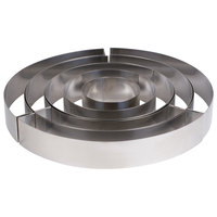 Matfer Bourgeat 681911 Stainless Steel 5-Piece Round Wedding Cake Ring Frame Set