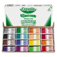 Crayola 588201 Classpack 256 Assorted Broad Point Non-Washable Markers