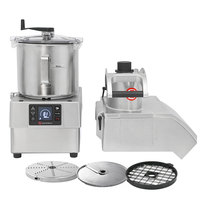 Sammic CK38V 3 hp Combination Food Processor Kit with 8.5 Qt. Bowl, 3/8 inch Slicing, 3/8 inch Dicing, and 1/8 inch Shredding Discs