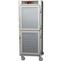 Metro C569-NDC-LPDS C5 6 Series Full Height Reach-In Pass-Through Heated Holding Cabinet - Clear / Solid Dutch Doors