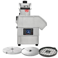 Sammic CA-3V 2 hp Continuous Feed Food Processor Kit with 3/8 inch Slicing, 3/8 inch Dicing, and 1/8 inch Shredding Discs