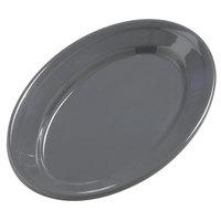 Carlisle 4387240 9 1/4 inch x 6 1/4 inch Peppercorn Dayton Oval Platter 24 / Case