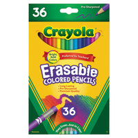 Crayola 681036 36 Assorted Erasable 3.3mm Colored Pencils