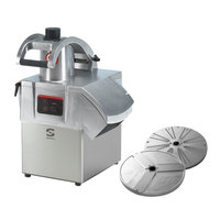 Sammic CA-301VV 3 hp Continuous Feed Food Processor Kit with 1/8 inch Slicing and 1/8 inch Shredding Discs