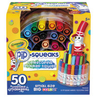 Crayola 588750 Pip-Squeaks Assorted 50 Color Telescoping Mini Size Markers with Tower