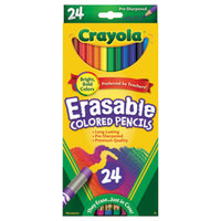Crayola 682424 24 Assorted Erasable 3.3mm Colored Pencils