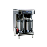 Bunn 51200.0100 ICB Infusion Series Black / Silver Twin Automatic Coffee Brewer - 120/240V, 6000W