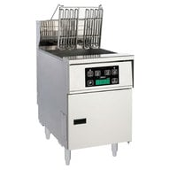 Anets AEH14R D 40-50 lb. High Efficiency Electric Floor Fryer with Digital Controls - 240V, 1 Phase, 22kW