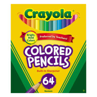 Crayola 683364 64 Assorted 3.3mm Colored Pencils