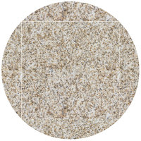 Art Marble Furniture G212 51 inch Round / 36 inch x 36 inch Giallo Gold Drop Leaf Granite Tabletop