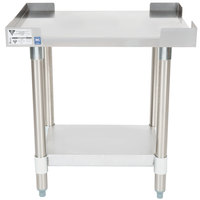APW Wyott SSS-18L 16 Gauge Stainless Steel 18 inch x 24 inch Standard Duty Cookline Equipment Stand with Galvanized Undershelf