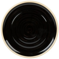 Chef & Sommelier FK845 Geode 6 inch Black Stackable Bread and Butter / Side Plate by Arc Cardinal - 12/Case