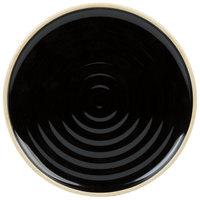 Chef & Sommelier FK844 Geode 8 1/2 inch Black Stackable Salad / Dessert Plate by Arc Cardinal - 12/Case