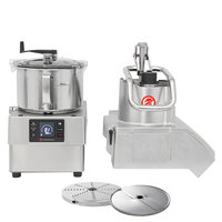 Sammic CK45V 3 hp Combination Food Processor Kit with 5.25 Qt. Bowl, 1/8 inch Slicing, and 1/8 inch Shredding Discs