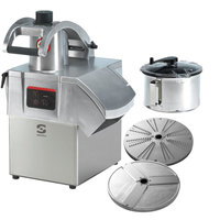 Sammic CK-301 3 hp Combination Food Processor Kit with 5.25 Qt. Bowl, 1/8 inch Slicing, and 1/8 inch Shredding Discs