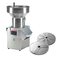 Sammic CA-601 1 1/2 hp Continuous Feed Food Processor Kit with 1/8 inch Slicing and 1/8 inch Shredding Discs