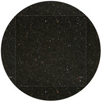 Art Marble Furniture G206 51 inch Round / 36 inch x 36 inch Black Galaxy Drop Leaf Granite Tabletop