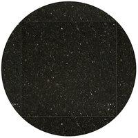 Art Marble Furniture G206 51 inch Round / 36 inch x 36 inch Black Galaxy Drop Leaf Granite Tabletop