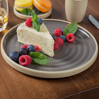 Chef & Sommelier FK944 Geode 8 1/2 inch Gray Stackable Salad / Dessert Plate by Arc Cardinal - 12/Case