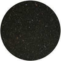 Art Marble Furniture G206 24 inch Round Black Galaxy Granite Tabletop