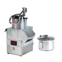 Sammic CK412 3 hp Combination Food Processor Kit with 8.5 Qt. Bowl, 1/8 inch Slicing, and 1/8 inch Shredding Discs