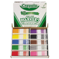 Crayola 588210 Classpack 200 Assorted Fine Point Non-Washable Markers