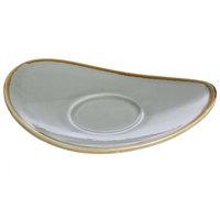 Arcoroc FJ057 Terrastone 6 3/8 inch x 4 7/8 inch Sage Porcelain Saucer by Arc Cardinal - 48/Case