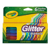 Crayola 588629 Assorted 6 Color Glitter Marker Set