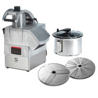 Sammic CK-302 3 hp Combination Food Processor Kit with 8.5 Qt. Bowl, 1/8 inch Slicing, and 1/8 inch Shredding Discs
