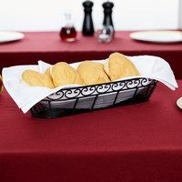 Tablecraft BK21815 Mediterranean Oblong Black Metal Basket - 15 inch x 6 1/4 inch x 3 inch