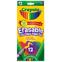 Crayola 684412 12 Assorted Erasable 3.3mm Colored Pencils