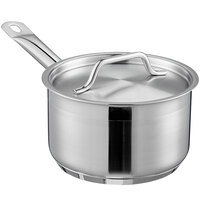 Vigor 2 Qt. Stainless Steel Sauce Pan with Aluminum-Clad Bottom and Cover