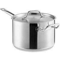 Vigor 7.6 Qt. Stainless Steel Sauce Pan with Aluminum-Clad Bottom and Cover