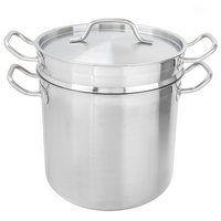 Vigor 12 Qt. Stainless Steel Aluminum-Clad Pasta Cooker Combination