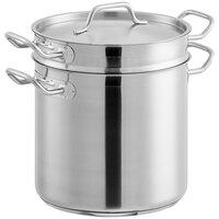 Vigor 12 Qt. Stainless Steel Aluminum-Clad Pasta Cooker Combination