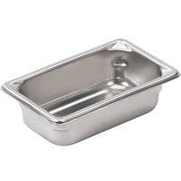 Vollrath 30922 Super Pan V 1/9 Size Anti-Jam Stainless Steel Steam Table / Hotel Pan - 2 inch Deep