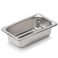 Vollrath Super Pan V 30922 1/9 Size Anti-Jam Stainless Steel Steam Table / Hotel Pan - 2 inch Deep